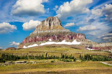 Majestic Peak on Hidden Lake Trail
