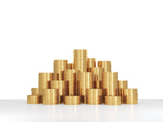 heap gold coins