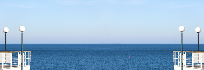 Panoramic abstract sea background or banner