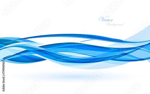 Zdjęcia na płótnie, fototapety, obrazy : Abstract blue waves - data stream concept. Vector Illustration