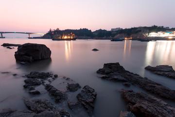 rocks and seascape in coast