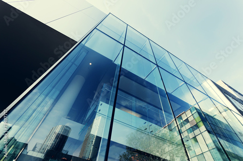 modern office building exterior and glass wall - 79497717
