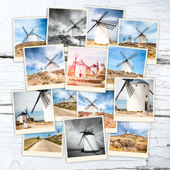 collage windmills