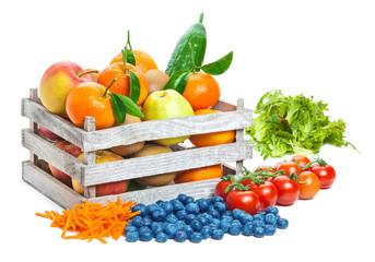Obst und Gemüse, Kiste