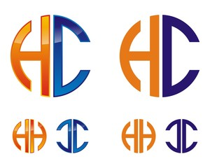 HC Letter Logo Template