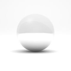 White sphere and transparent