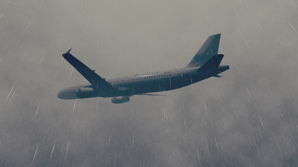 Airliner flies through a storm 3