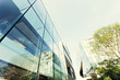 modern office building exterior and glass wall - 79499903