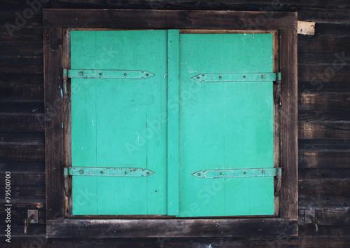 Leinwanddruck Bild Holz Fensterläden