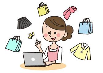 女性 パソコン 買い物