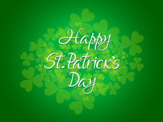 abstract st patrick day text