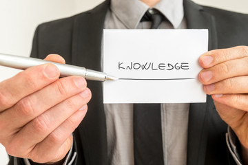 Conceptual image with the word Knowledge
