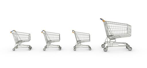 Happy Shopping Cart Family