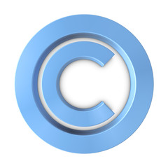 Big Blue Copyright Symbol