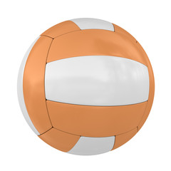 Single Isolated Orange Volleyball Ball