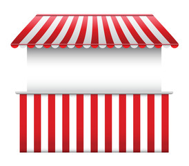 Stall with Striped Awning 2