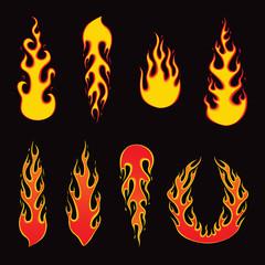 Burning Fire - Vector Illustration