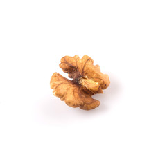 Walnut nuts over white background