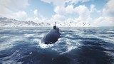 Russian nuclear-powered submarine front view 2
