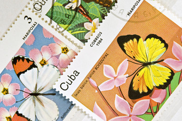 stamp butterfly