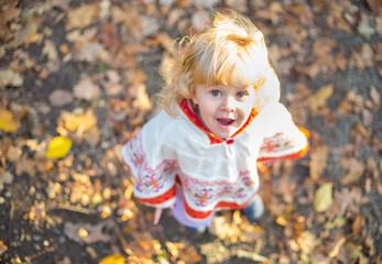 Little girl outdoors