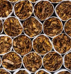 Cigarettes macro shot