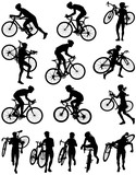 Fototapety Cyclocross racing vector silhouette