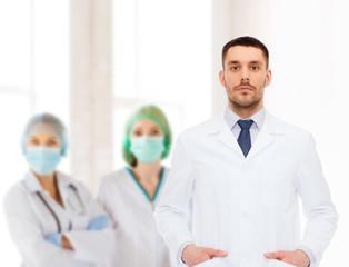 male doctor in white coat