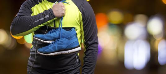 Jogging at night