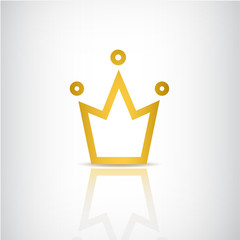 vector gold crown icon