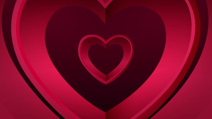 Looping heart tunnel of love