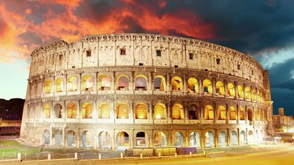 Colosseum, Rome, Italy - Motion Time lapse