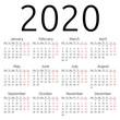 Simple vector calendar 2020 - 79510327