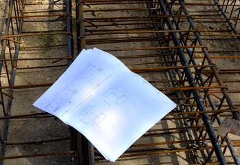 Reinforcing steel bars for building armature