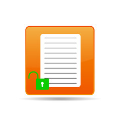 vector icon of the document