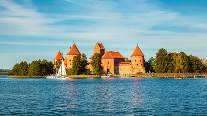 well-known Trakai castle