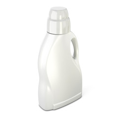 White bottle for detergent on a white background