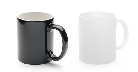 black and white cup