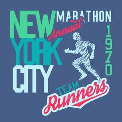 New York City Marathon t-shirt design