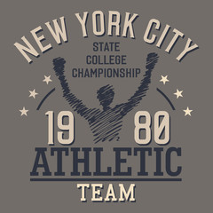 New York Athletic Team t-shirt design