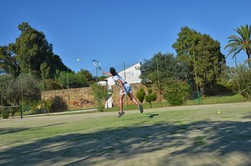 First serve in a tennis match