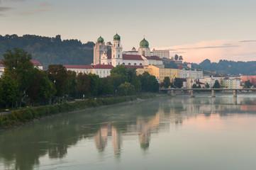 Sunset over Dom St. Stephan, Passau (Germany)