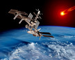Earth Satellite Space Station
