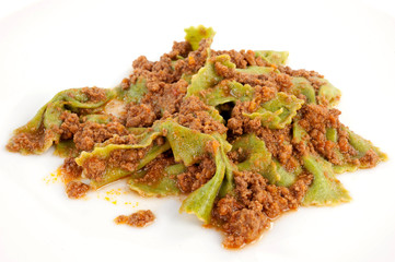 la pasta verde con ragù