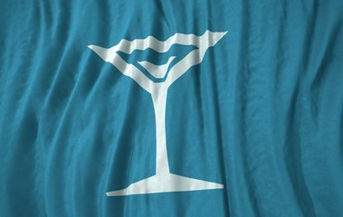 Drink martini corrugated realistic flag 3d illustration