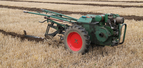 A Hand Steered Vintage Agricultural Farming Plough.