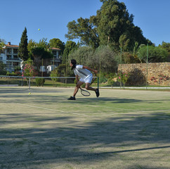 Recovering a ball in a tennis match