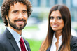 Two businesspeople outdoor