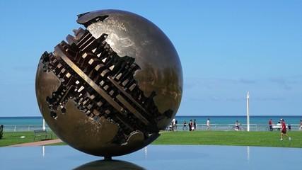 sfera grande sculpture pesaro italy 1