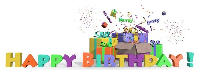 Fijne verjaardag - liggend formaat
